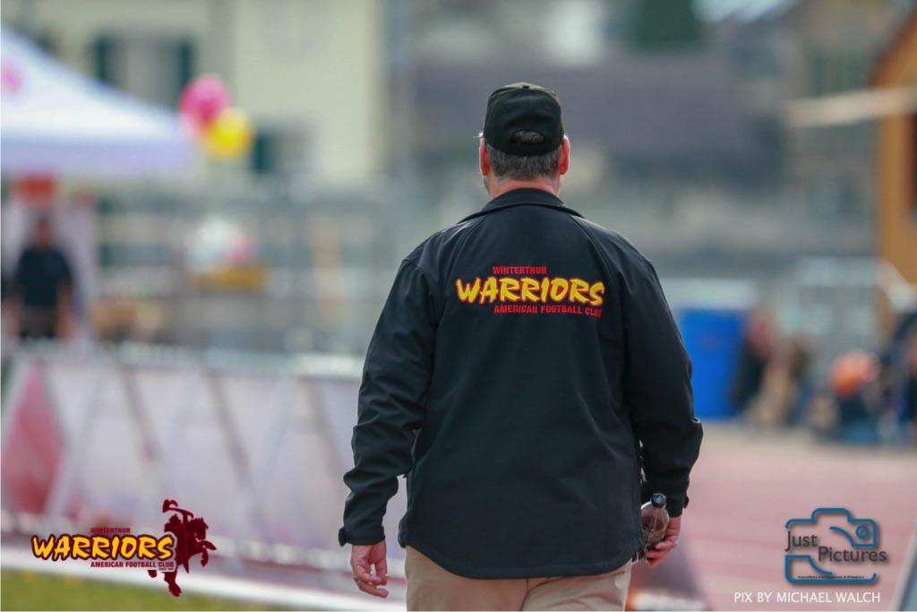 Beim US-Sports spiel der American Football -U19 zwischen dem Winterthur Warriors und dem Zurich Renegades, on Saturday,  06. April 2019 im Deutweg  in Winterthur. (Just Pictures/Michael Walch)Bild-Id: WAM_56143