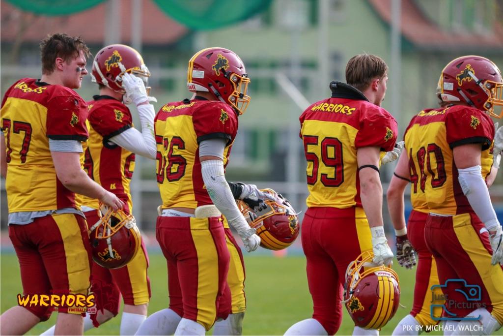 Beim US-Sports spiel der American Football -U19 zwischen dem Winterthur Warriors und dem Zurich Renegades, on Saturday,  06. April 2019 im Deutweg  in Winterthur. (Just Pictures/Michael Walch) Bild-Id: WAM_56158