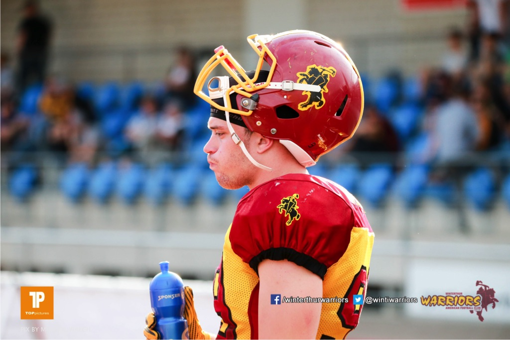 Beim US-Sports spiel der American Football  zwischen den Winterthur Warriors und den Geneva Seahawks, on Saturday,  12. May 2018 im Sportpark Deutweg in Winterthur . (TOPpictures/Michael Walch) Bild-Id: WAM_40041