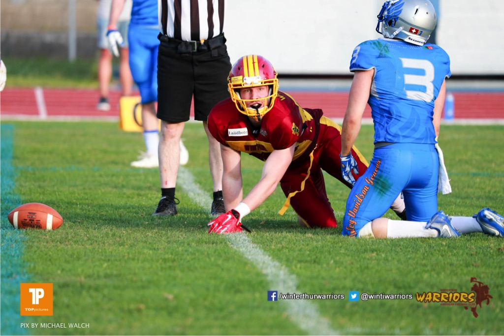 Beim US-Sports spiel der American Football  zwischen den Winterthur Warriors und den Geneva Seahawks, on Saturday,  12. May 2018 im Sportpark Deutweg in Winterthur . (TOPpictures/Michael Walch) Bild-Id: WAM_40067