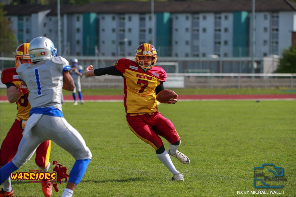 28.04.2019  American Football Schweiz ,Herren NLA  Schweiz 2019  Winterthur Warriors  -  Geneva Seahawks  (Just Pictures/Michael Walch / Just Pictures)