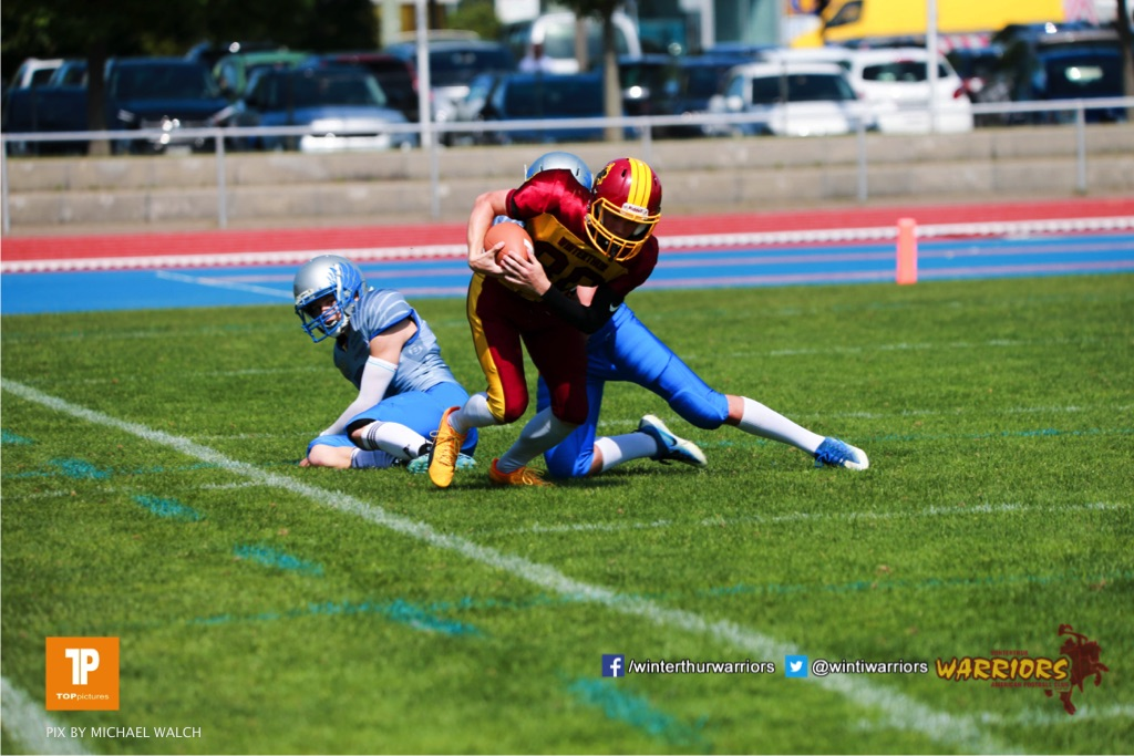 ,Beim US-Sports spiel der American Football  zwischen den Winterthur Warriors und den Geneva Seahawks U19, on Saturday,  12. May 2018 im Sportpark Deutweg in Winterthur . (TOPpictures/Michael Walch)Bild-Id: WAM_39882