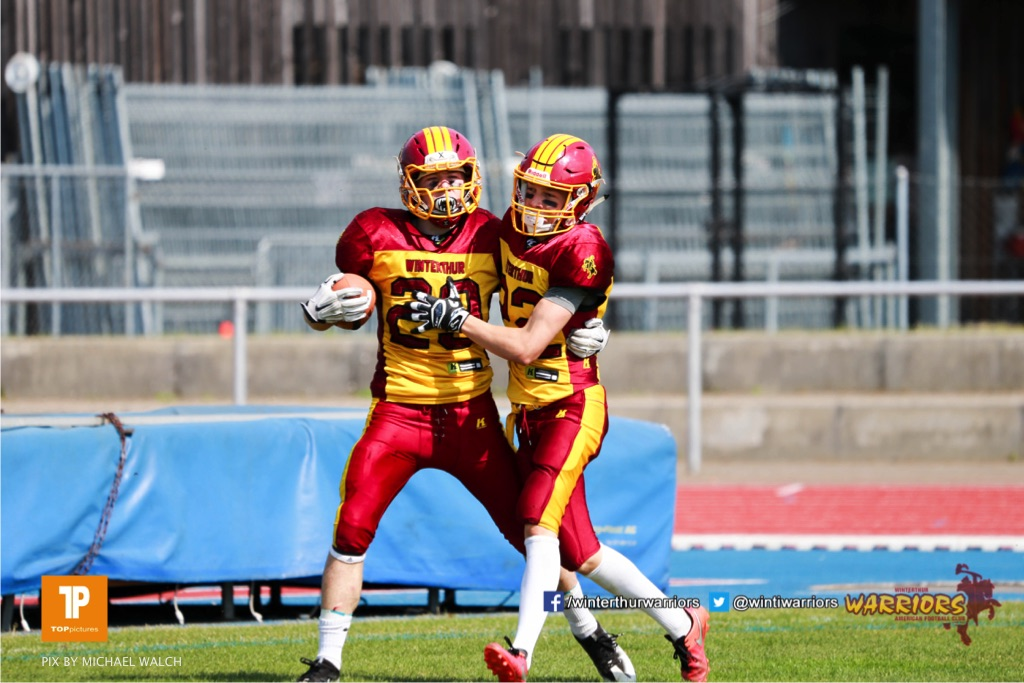 Beim US-Sports spiel der American Football  zwischen den Winterthur Warriors und den Geneva Seahawks U19, on Saturday,  12. May 2018 im Sportpark Deutweg in Winterthur . (TOPpictures/Michael Walch)Bild-Id: WAM_39910
