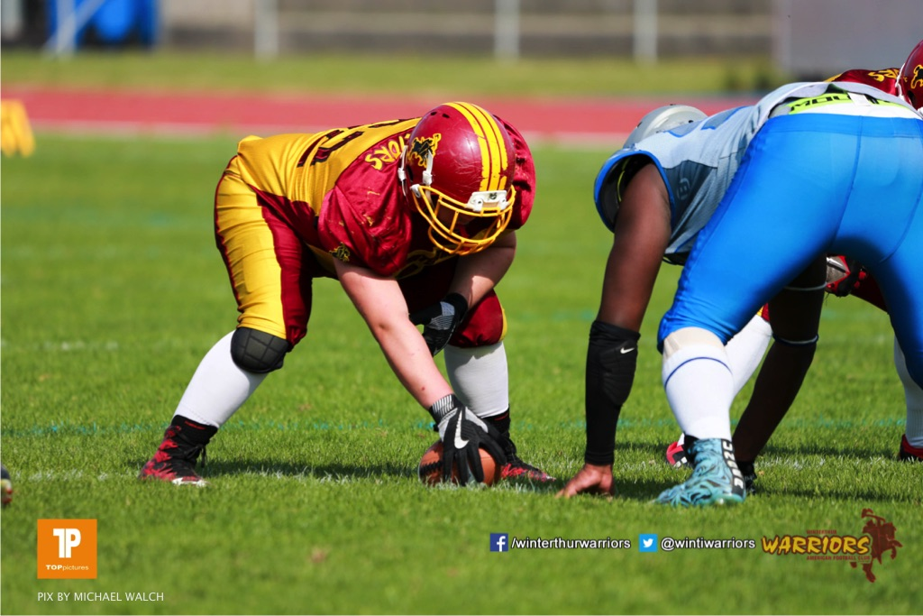 Beim US-Sports spiel der American Football  zwischen den Winterthur Warriors und den Geneva Seahawks U19, on Saturday,  12. May 2018 im Sportpark Deutweg in Winterthur . (TOPpictures/Michael Walch) Bild-Id: WAM_39950