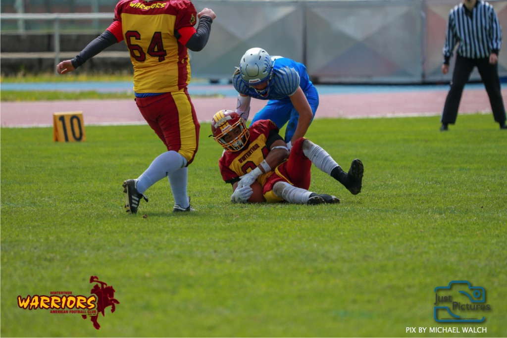 28.04.2019  American Football Schweiz ,Herren  U-19 Schweiz 2019  Winterthur Warriors  -  Geneva Seahawks  (Just Pictures/Michael Walch / Just Pictures)