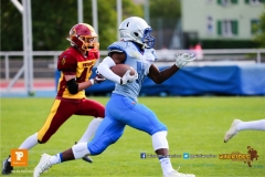 Beim US-Sports spiel der American Football  zwischen den Winterthur Warriors und den Geneva Seahawks U19, on Saturday,  12. May 2018 im Sportpark Deutweg in Winterthur . (TOPpictures/Michael Walch)  Bild-Id: WAM_39932