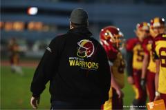 Beim US-Sports spiel der American Football - U16 zwischen dem Winterthur Warriors und dem Bern Grizzlies, on Saturday,  03. November 2018 im Sportpark Deutweg in Winterthur. (TOPpictures/Michael Walch)  Bild-Id: WAM_49438